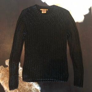 Black Sparkly Tory Burch Sweater